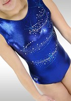 Turnpakje Zonder Mouw Blauw Wetlook turquoise glitter V778