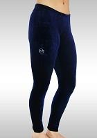 Legging Lang Velours Blauw K753ma