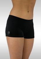 Hotpants legging turnlegging zwart velours K758zw