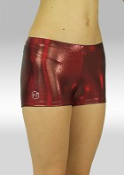 Legging hotpants wetlook olieglans bordeaux O758bo