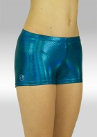 Legging hotpants wetlook olieglans ocean green O758oc