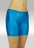 Legging kort wetlook Metallic turquoise S756tu