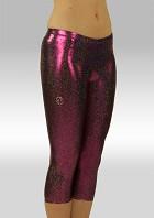 Legging 3/4 lang Paars Zwart Glitter Wetlook W754454
