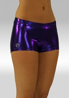 Hotpants paars wetlook W758pa