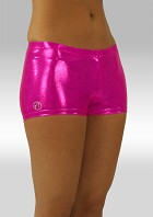 Hotpants roze wetlook W758rz